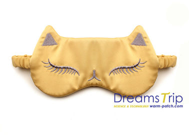 China Cartoon Embroidery Satin Silk Eye Mask Comfort Elastic Fabric for Room Sleep on Trip factory