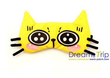 China Cartoon Cat soft Velvet fabric eye Mask Kitty use in night sleep for children factory