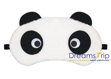 China Cartoon Animal Panda Shape eye mask cotton soft elastic for Gift sleep trip factory
