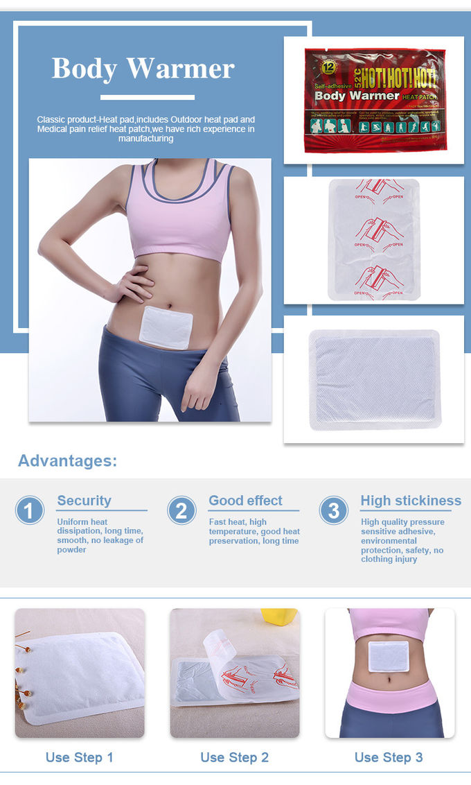 Automatic Warming Plaster Heat Patch no toxic FDA CE Woman Body Warmer Uterus